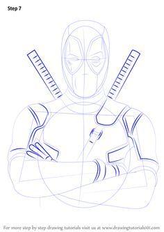 How to Draw Deadpool - DrawingTutorials101.com