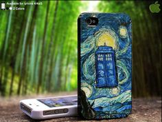 Paint Doctor Who Tardis Time Machine on Blue Galaxy by SidePucket, $14.89