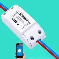 ITEAD Sonoff Wifi Switch Intelligent WiFi Wireless Remote Control 433mHz RF Wifi Switch Smart Home Automation Light Switch
