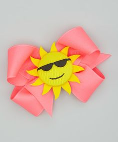 Take a look at this Sun Bow Clip by Picture Perfect Hair Bows on #zulily today!