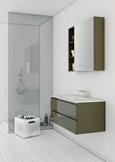 Strato collection by Inbani is an extensive modular program which allows to adapt to each project into the desired space. #bathroom #furniture