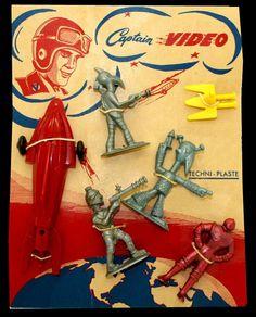 Lido Captain Video set by Techni Plaste - France #art #toys #ads #advertising #alien #aliens #astronaut #astronauts #vintage #toy #space #spacemen #raygun #rayguns #spaceship #spaceships