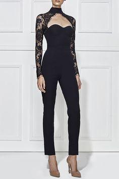 kiara pantsuit - ebony by Misha Collection