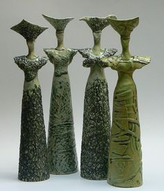 like the texturing . Ceramic Figures, Clay Figures, Ceramic Art, Raku Pottery, Slab Pottery, Abstract Sculpture, Sculpture Art, Color Style, Women Figure