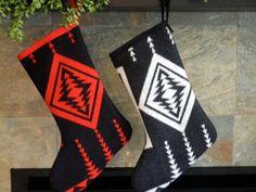 Pendleton Wool Christmas Stockings, Set of Two, $84