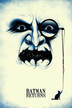 Batman Returns by Benedict Woodhead - Home of the Alternative Movie Poster -AMP- Film Tim Burton, Tim Burton Batman, Im Batman, Batman Art, Batman The Movie, The Penguin Batman, Gotham Batman, Batman Logo, Batman Robin