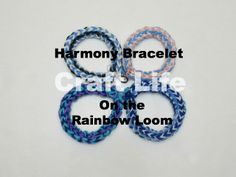 Craft Life Harmony Bracelet Tutorial on the Rainbow Loom ~ This can also be made on the Monster Tail