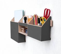Chistmas gift, Black Friday sale, Wall organizer Graphite , Gray Desktop Organizer, Desk Organizer, Wall Wood Set, Office organizer set, Pen holder, Mail and Paper organizer  This Wooden Desk Organizer set makes organize your desktop. This beautiful hand crafted set made of plywood