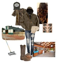 A fashion look from June 2015 featuring camo shirts, Carhartt and ripped jeans. Browse and shop related looks. Country Chic Outfits, Cowgirl Style Outfits, Southern Outfits, Country Girl Style, Country Fashion, Western Outfits, Cute Casual Outfits, Western Wear, Cowgirl Fashion