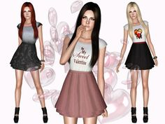My Sweet Valentine's Dress by Ms Blue - Sims 3 Downloads CC Caboodle