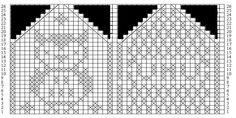 Bilderesultat for strikke diagram Knitted Mittens Pattern, Mitten Gloves, Knitting Charts, Knitting Stitches, Owl Patterns, Diy Crafts Knitting, Knit Crochet, Threading, Knit Patterns