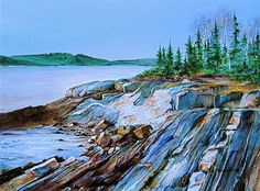 West Cundy's Point watercolor by Nancy King