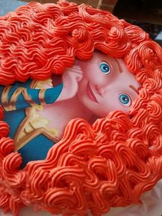 Brave Birthday Cakes, 2nd Birthday Party Themes, Brave Merida, Brave Cakes, Kawaii Girl Drawings, Brave Kids, Disney Princess Party, Birthday Cake Decorating, Fancy Cakes