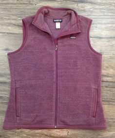 Patagonia Better Sweater Vest Plum Womens Sz XL /  | eBay
