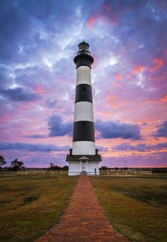 Fine art landscape photography of Bodie Island Lighthouse Sunrise at the Cape Hatteras National Seashore on the Outer Banks NC by landscape photographer Dave Allen. Nc Lighthouses, North Carolina Lighthouses, Bodie Island Lighthouse, Lighthouse Decor, Grands Lacs, Outer Banks Nc, Lighthouse Pictures, Voyage Europe, Am Meer