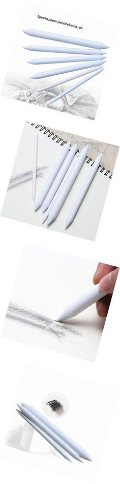 12pieces Blending Tortillon Stump Set Paper Painting Drawing Sketch Art Accs