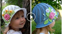 Free Crochet Cloche Hat Pattern with Flower Crochet Girls, Knit Or Crochet, Cute Crochet, Beautiful Crochet, Crochet Beanie Hat, Crochet Blanket Patterns, Baby Patterns, Girl With Hat, Crochet Flowers