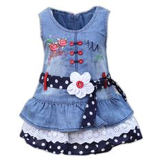 Imagem relacionada Little Girl Shoes, Little Girl Dresses, Girls Dresses, Mom Dress, Baby Dress, Jeans Frock, Baby Outfits, Kids Outfits, Toddler Fashion