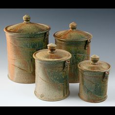 pottery canisters kitchen - Google Search