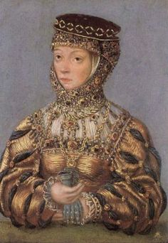 Portrait of Barbara Radziwill, 1553-56 Cool sleeves, headdress....not so much