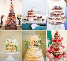 Naked wedding cakes, Victoria sponge