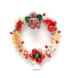 Playfull Christmas Ornament Wreath, Christmas Time