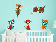 Baby Dragon Nursery Wall Decals Removable Durable Vinyl Fabric - baby dragons baby dragons baby dragons