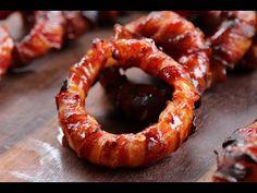 Sriracha Bacon Zwiebelringe vom Grill - Sriracha Bacon Onion Rings - YouTube
