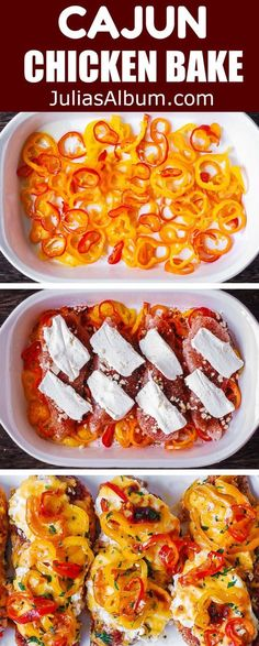 Chicken Bell Pepper Recipes, Chicken Recipes With Cream Cheese, Stuffed Bell Peppers Chicken, Cream Cheese Stuffed Chicken, Cajun Chicken Salad, Chicken Salad Recipes, Baked Chicken, Keto Chicken, Cajun Recipes