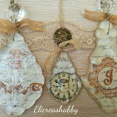 Pampille decorate con iniziali e oroligio Elicreashabby