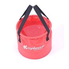 Multi-Functional collapsible water carrier Bucket with Mesh Red 20L