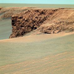 A Martian landscape from the Exploration Rover Mission