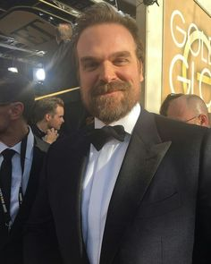 David Harbour at the 2019 GGs Hopper Stranger Things, Stranger Things Season 3, Stranger Things Netflix, Dr Brenner Stranger Things, David Harbor, Stranger Things Have Happened, Lone Ranger, Celebrity Crush, Pretty People