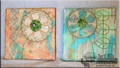 Mixed Media Flower Collage using @PLUS Corporation of America products