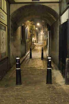 The archway through which Jack the Ripper's first victim walked shortly before she was murdered - London