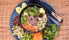 Pho – Asian soup with beef – Today's plate - Suppe Pho, Ramen, Asian Soup, Asian Beef, Soup Recipes, Plates, Vegan, Dinner, Ethnic Recipes