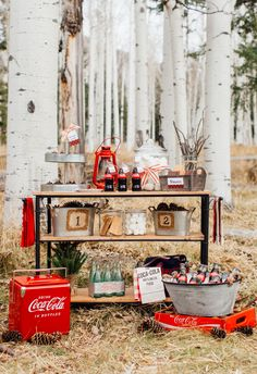 Invite friends for a fireside gathering this January and setup a s'mores bar for all to enjoy. Don't forget the Coke!  #cokestyle #tomkatstudio Thanks to our friends at Coca-Cola!