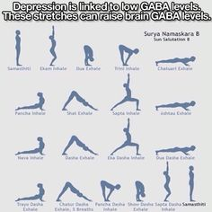 This is actually the Sun Salutation in Yoga, apparently it helps with Depression : Ebaum's World