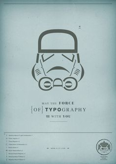 H-57 Creative Station | May the force of Typography be with you | Advertising Agency: H-57 Creative Station, Milan, Italy