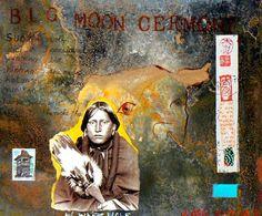Big Moon Ceremony by Jane Ash Poitras kK Modern Indian Art, Big Moon, Indigenous Art, Aboriginal Art, Native American Art, First Nations, Photomontage, Nativity, Ash