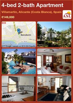 4-bed 2-bath Apartment in Villamartin, Alicante (Costa Blanca), Spain ►€149,000 #PropertyForSaleInSpain