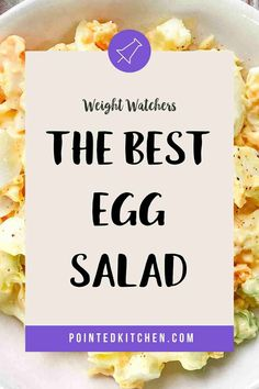 This easy to make Egg Salad is perfect for anyone following the Weight Watchers plans. A tasty WW lunch recipe that is 1 SmartPoint per portion on Weight Watchers Purple, Blue and (the old) Freestyle plans and 5 SmartPoints on the Green plan. #weightwatcherslunchrecipes #weightwatchers #freestyle #wwblueplan #wwgreenplan #wwpurpleplan #wweggsalad Weight Watchers Pasta, Weight Watchers Lunches, Weight Watchers Meal Plans, Weight Watchers Desserts, Ww Recipes, Lunch Recipes, Baked Egg Custard, Food Words, Recipe Please