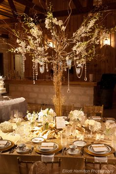 tall centerpiece.- I'm All about the Manzanita Trees! Love love.