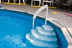 decks for above ground pools | simple above ground pool deck option is to have a deck that only ...