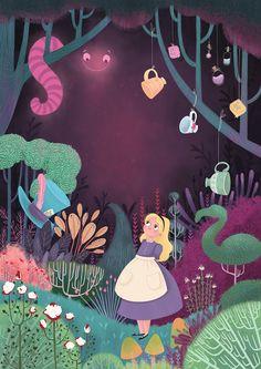 Alice's Adventures In Wonderland by Natalie Smillie [©2016] Alice In Wonderland Poster, Alice In Wonderland Illustrations, Adventures In Wonderland, Alice In Wonderland Background, Source D'inspiration, Children's Book Illustration, Book Illustrations, Alice Book, Inspiration Artistique