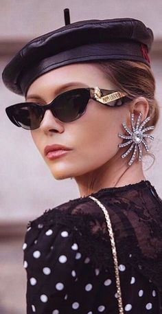 Parisian Chic Style, Business Fashion, Business Style, Headgear, Old Hollywood, Fasion, Movie Stars, Glamour, Sunglasses