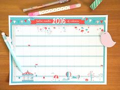 Print and download the 2016 Kawaii Calendar by Kawaii Gazette. With the calendar, there's also the brand you Kawaii Planner for your desk.