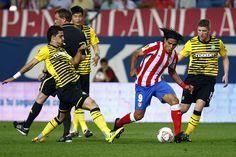 El Tigre consiguió su primer gol con la rojiblanca frente al Celtic en el Calderón. El partido, disputado el 15 de septiembre de 2011, finalizó 2-0.