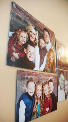 Easy and inexpensive way to mount photos.  how to mount photos on foam board.