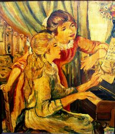 Two Young Girls at the PianoAuguste Renoir oil by bonyshop2016